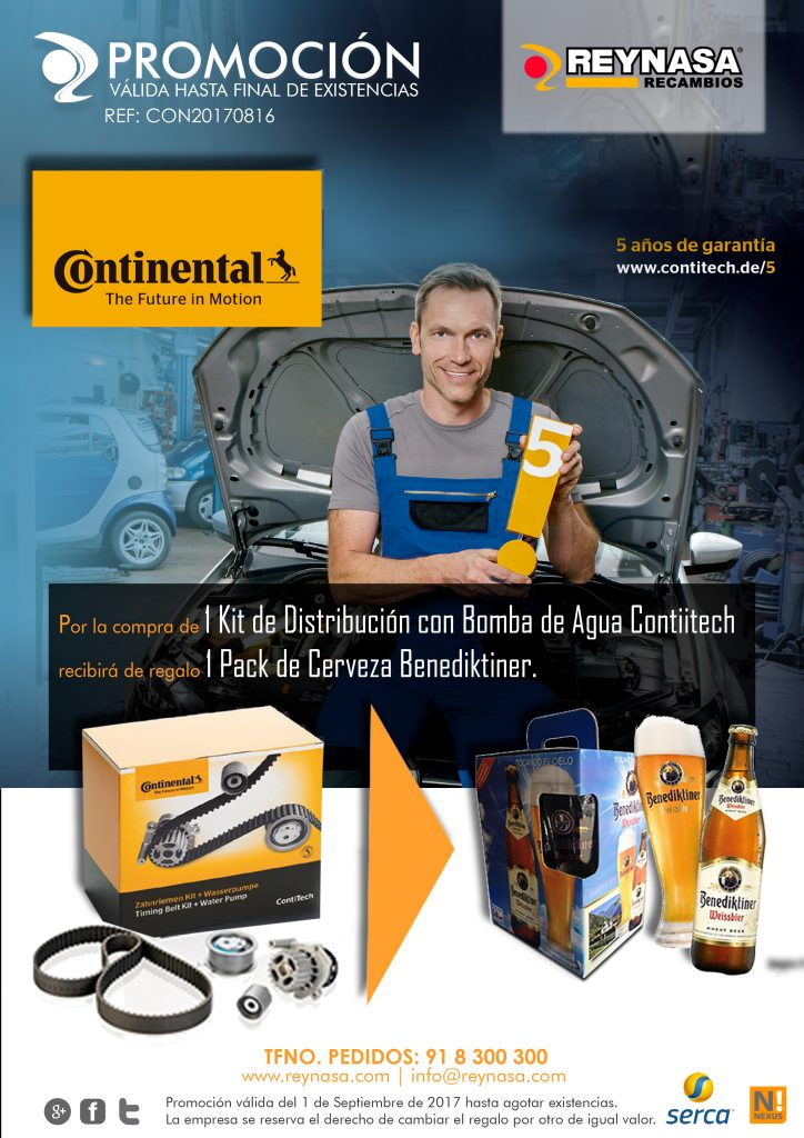 Promocion kit con bomba de agua contitech